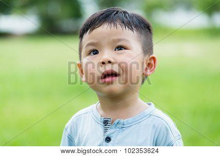 Baby boy feeling scorn