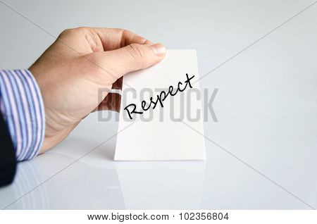 Respect text concept isolated over white background poster