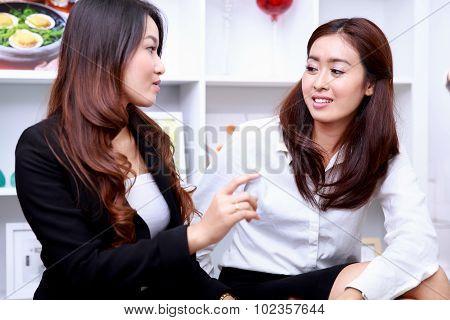 Two Businesswomen Disscussing Ideas