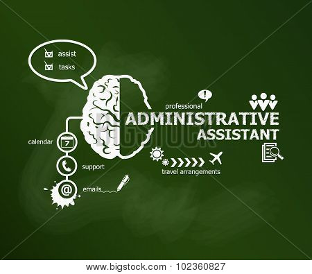 Administrative Assistant Business Concept.