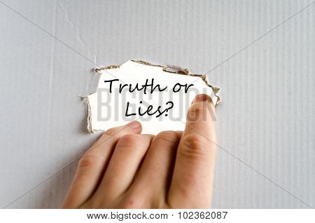 Truth Or Lies Text Concept