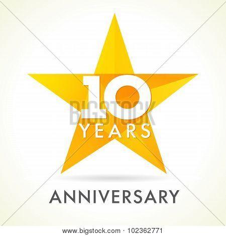 10 anniversary star logo