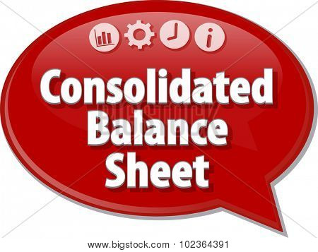 Blank business strategy concept infographic diagram illustration Consolidated Balance Sheet