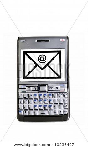 Mobile Phone With An Email Symbol