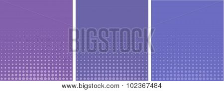 Graphical Purple Lavender Gradient In Halftone Style