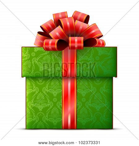 Gift Box Isolated On White Background