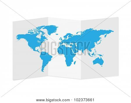 World Map Paper Illustration