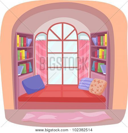 Interior Illustration Featuring a Fancy Nook in a House poster
