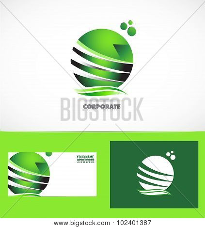 Corporate Business Green Sphere Logo