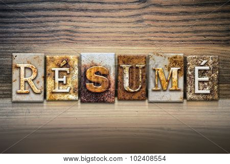 Resume Concept Letterpress Theme