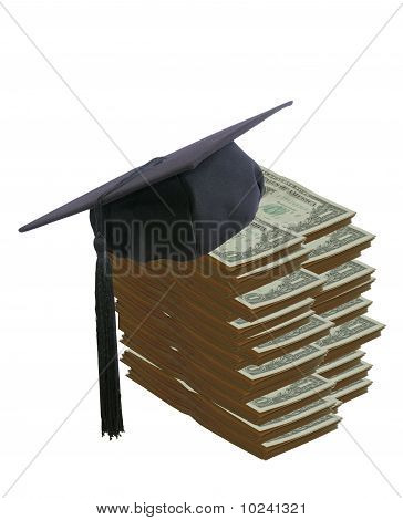 Student hat and money