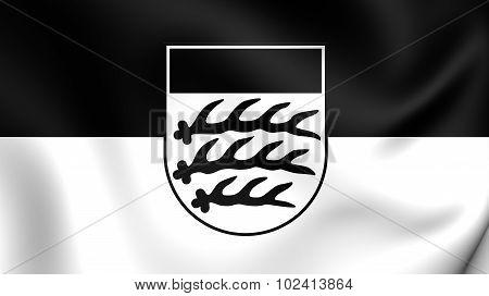Flag Of Waiblingen City (baden-wurttemberg), Germany.