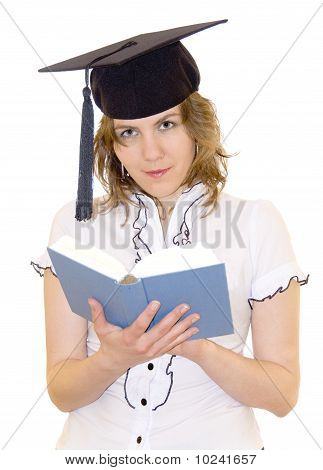 Yound Student Reading A Book