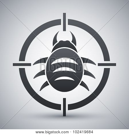 Vector Bug Target Icon