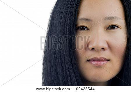Asian Woman's Face