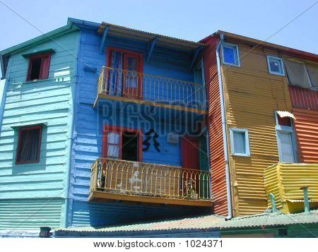 Painted Buildings In La Boca