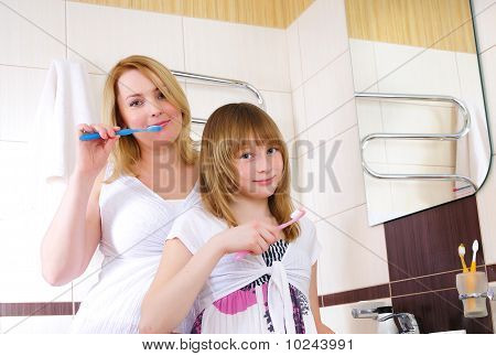 Young Girl And Her Mother