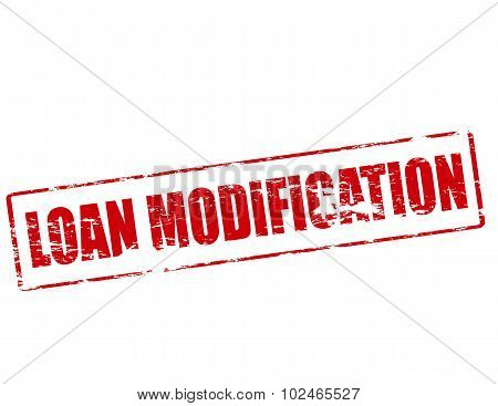 Rubber stamp with text loan modification inside vector illustration poster