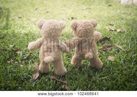 Teddybears at the park