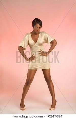 Glamorous Ethnic Woman In Sexy Flirting Pose