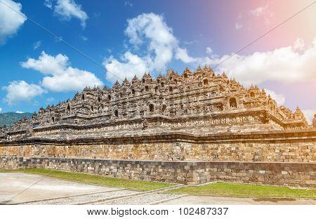 Ancient Temple Of Borobudur In Indonesia