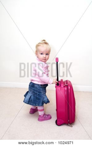 Baby With Suitcase