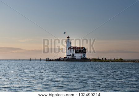 The Paard van Marken lighthouse, translated as