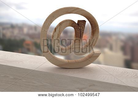 3D At On A Rusty Surface