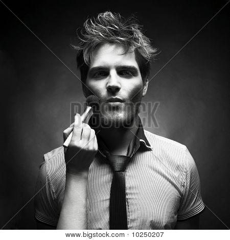 Handsome Man In Shooting