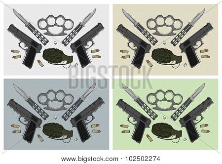 Weapons sets. Color