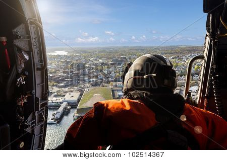 Aerial View From Helicopter