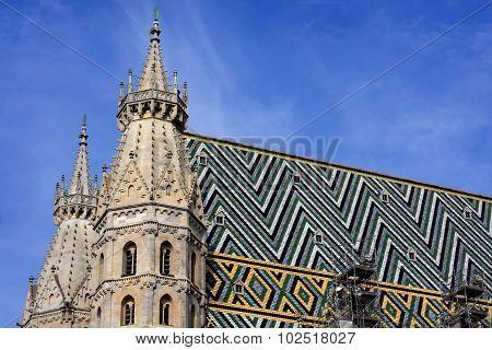 Part Of Cathedral; Stephansplatz; Austria;