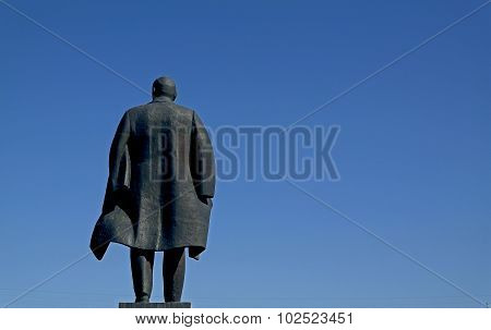 Lenin monument, Barnaul city, 09.01.15.