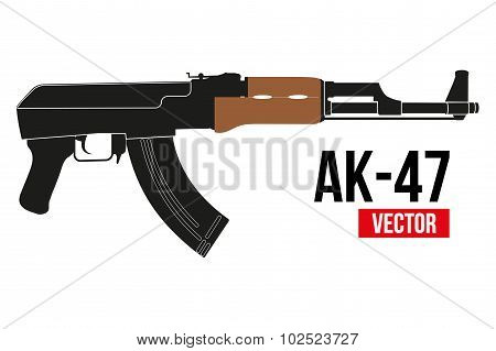 Russian rifle AK47.