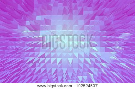 Light magenta pyramid earth digital abstract background.