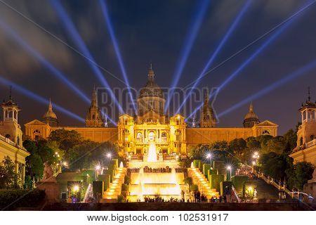 Light show and fountains, Placa Espanya, Barcelona