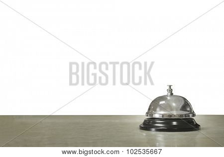 Service bell at the hotel isolated on white