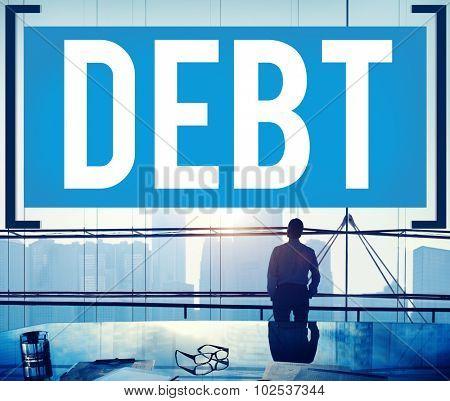 Debt Obligation Credit Finance Debit Concept poster