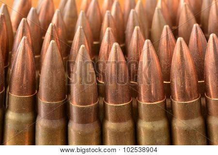 Ak-47 Bullets Close Up
