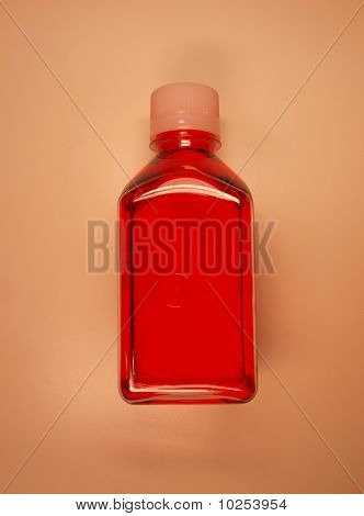 Bottle of liquid in the laboratory