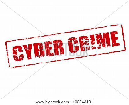 Rubber stamp with text cyber crime inside vector illustration poster