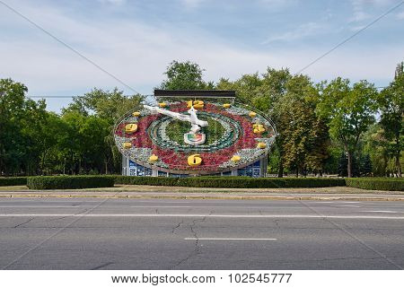 Flower Clock In Krivoy Rog