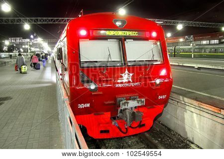 Aeroexpress Train In Moscow