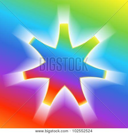 Star-effect-volume-rainbow-gradient-background
