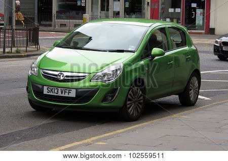 Green Vauxhall Astra