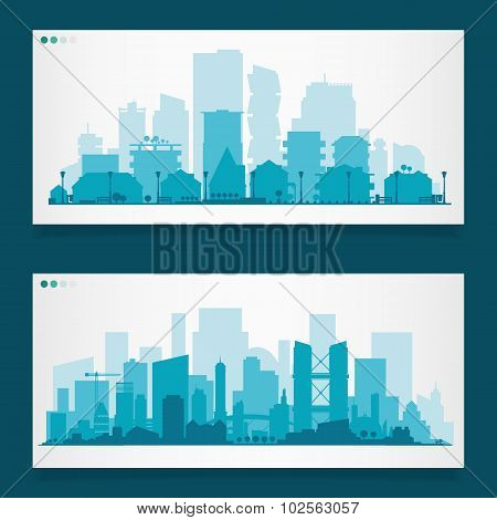 Various part cities skyline sets