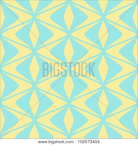 Seamless abstract geometric  vector pattern inspired by puffin beaks