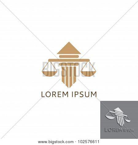 Lawyer Logo With Greece Column