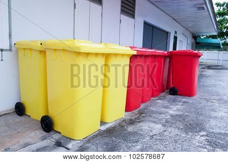 Red And Yellow Bins