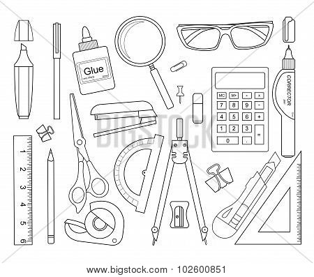 Stationery tools. Contour